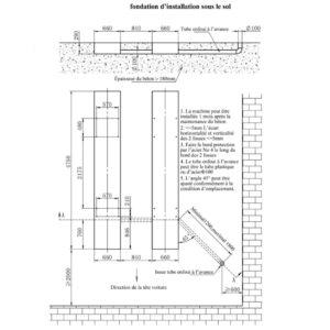 Schéma d'installation au sol du SXJS4023